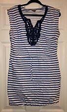Mud Pie Blue & White Striped Dress, Size Med