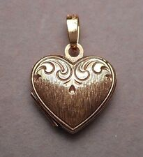 Vintage 14K Yellow Gold Heart Shaped Locket marked GERMANY - Chicago estate