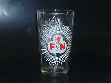 OLD EDITION -  1 x  Singapore drinking glass -   F & N Red Lion     (CA-#6)