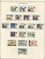 Seychelles #241//483 MNH/MLH CV$160.00 1968-1981 Collection on Album Pages