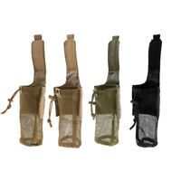 Outdoor Hunting Foldable Mesh Water Bottle Carrier Drinking Pouch Bag Holder