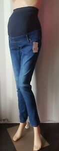 New Yessica 9M Over Bump Blue Skinny Maternity JeansEx-High Street   Size:8-18