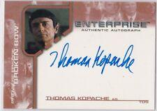 STAR TREK ENTERPRISE SEASON 1 BROKEN BOW BBA9 THOMAS KOPACHE AS TOS AUTOGRAPH