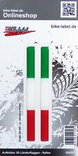 Aufkleber 3D Länder-Flaggen - Italien Italy 2 Stck. je 120 x 10 mm - 300001