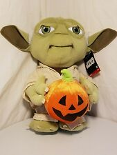 Disney Gemmy Star Wars Plush Stuffed Yoda Halloween Greeter 19 in Tall