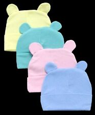 Baby Goods:  Baby Fleece Beanies - Winter Caps With Ears 6 Pc Lot  ( WCK1151^*)
