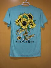 Simply Southern Women's T-shirt Size Large Short Sleeves Color Mint Green