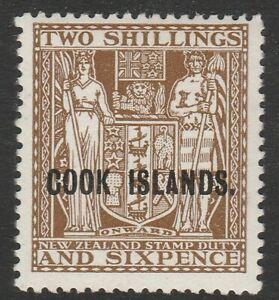 Cook Islands 1936-44 2/6d Dull brown SG 122 Mint.