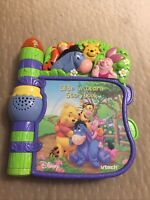 VTech Winnie The Pooh Slide N Learn Interactive Storybook TESTED W/ Batteries