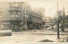 CUMBERLAND MD – Baltimore Street 1936 Flood Real Photo Postcard rppc