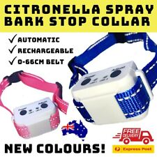 NEW B490 RECHARGEABLE CITRONELLA SPRAY MIST AUTOMATIC BARK STOPPING DOG COLLAR
