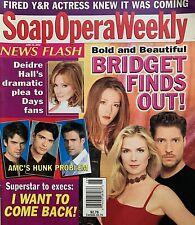 BOLD AND BEAUTIFUL June 25, 2002 SOAP OPERA WEEKLY Magazine DEIDRE HALL