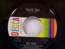 "THE WHO ""MAGIC BUS / SOMEONE'S COMING"" 45"