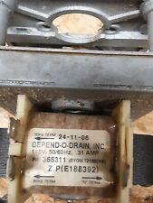 Depend-o-drain Part 24-11-06 Motor & Gear 115 Volts Used