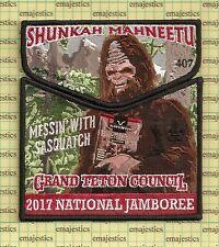 Bsa Oa Lodge 407 Shunkah Mahneetu Jamboree 2017 Sasquatch Black Set 200 Made