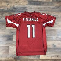Larry Fitzgerald #11 Arizona Cardinals Jersey Boys / Youth XL 18-20 Red Reebok