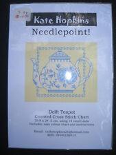 Counted Cross Stitch Chart Australian Design Delft Teapot BNIP Fast Postage
