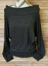 FREE PEOPLE Women Pullover Palisades Off Shoulder Sweater Knitwear Small (Black)