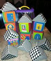 IQ Baby Knock Knock Blocks 16 Soft Building Blocks w/Peek-A-Boo Windows! (#BS-L)
