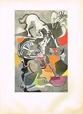 1940s Vintage Andre Beaudin Chevaux Exasperes Horse Offset Litho Art Print