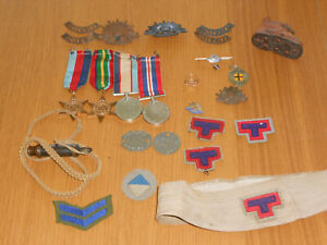 WWII group of medals and ephemera to a West Aussie