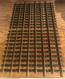 4 LGB By Lehmann No.1000 L= 300mm Brass Straight Train Track 24' G-Scale Pieces