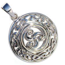 In Argento Triscele nodo celtico Triskele Ciondolo Guerrieri Shield p082