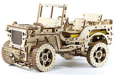 Wooden City 3D Puzzle Building Mechanical 4x4 Wrangler Jeep Model WR309
