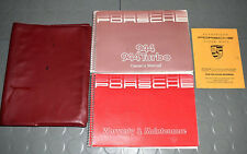 1986 Porsche 944 / 944 Turbo Owners Manual