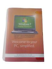 Microsoft Windows 7 Home Premium 64 Bit SP1 System Builder OEM W/ Product Key