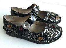 Alegria Paloma Women's Mary Jane Peace Black Shoes PAL-311 Sz 39 / 9-9.5 US