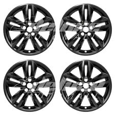 "18"" Black Wheel Skins Covers Hubcaps (4 PCS) FOR 2015 2016 2017 2018 Ford Edge"