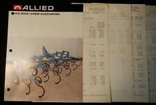 Allied 465 Row-Crop Cultivator 2-page Brochure and 2 Price Sheets Original Clean