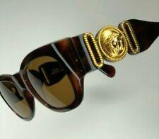 Rare 1980s Vintage Gianni VERSACE Sunglasses MOD413/A COL.900 Large Medusa Head