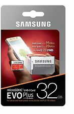 Samsung 32GB Evo Plus Micro SD SDHC Memory Card 95MB/s for Dash Cam in Car