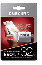Samsung 32gb EVO Plus Micro SD SDHC Memory Card 95mb/s Class10 SD Adapter