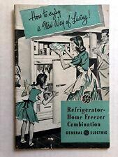 Vintage GE Refrigerator Manual Models NH-8G, NH-10G, NG-8J, NJ-10G
