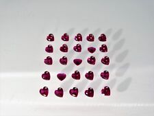 Red Ruby Heart Cut Shape SIZE CHOICE Loose Stones Corundum Gemstones