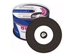 50 Mediarange Black Bottom Vinyl CD-R blank discs CD Printable 52x 700MB MR226