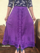 Full Length Cotton Hippy, Boho Casual Skirts for Women