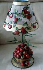 Home Interiors Homco Apple Barrel Tealight Candle Holder Lamp W/Battery & Votive