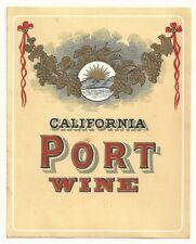 Pre-pro California Port Wine Label