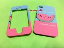 5G 5S Front & Back summer watermelon pattern hard case cover for iphone 5 5G 5S