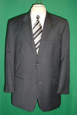 ALFANI & MACY'S 100% WOOL CURRENT GRAY MUTED PLAID 2 BUTTON SUIT!!-- Size 44R
