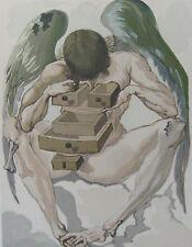 Salvador Dali The Divine Comedy Purgatory #1 Woodblock Art Print, MAKE OFFER!