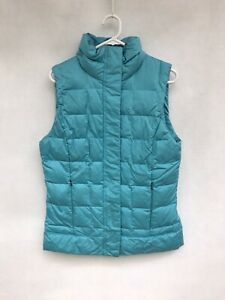 ☘️Womens Columbia Omni-Shield Sleeveless Pupper Padded Full Zip Vest Blue Size M