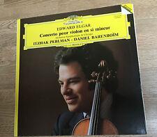 LP 33 tours Edward Elgar Itzhak Perlman Daniel Barenboïm 1982 M-  *