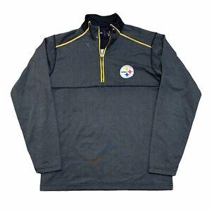 Pittsburgh Steelers Jacket Mens Medium Black Long Sleeve NFL Football Adult
