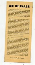 Late 1930's Join Naacp Brochure