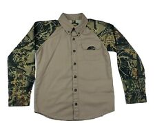 Cabela's Youth long sleeve  Camo Button Up Shirt Size S Nice